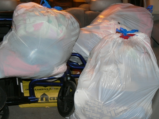 Added two bags to Wednesday's donation for a total of three bags!